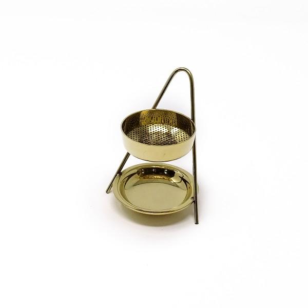Messing 3-Fuß-Ständer mit Sieb (für Weihrauch und Teelicht)